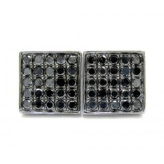 10k Black Gold Black Diamond Earrings 1.00ct