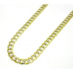 10k Yellow Gold Solid Diamond Cut Cuban Link Chain 18-30