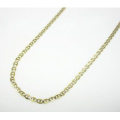 10k Yellow Gold Solid Diamond Cut Mariner Link Chain 18-20 Inch 1.5mm