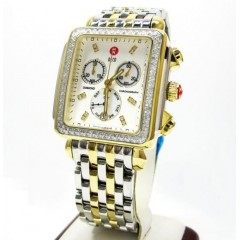 Ladies Michelle Deco Two Tone Stainless Steel Diamond Watch 0.60ct