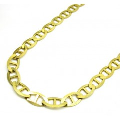 10k Yellow Gold Solid Mariner Link Chain 22-26 Inch 5.3mm