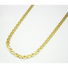 10k Yellow Gold Solid Mariner Link Chain 16-24 Inch 2.5mm