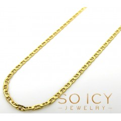 10k Yellow Gold Solid Mariner Link Chain 16-20 Inch 1.5mm
