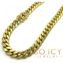 10k Yellow Gold Thick Miami Chain 24-32 Inch 8.3mm