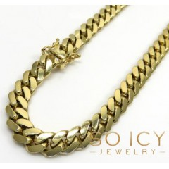 10k Yellow Gold Thick Miami Chain 24-32 Inch 7mm