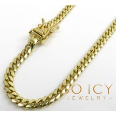10k Yellow Gold Miami Chain 18-30 Inch 4.2mm