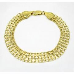 10k Yellow Gold Solid Bismark Bracelet 8 Inch 10.3mm