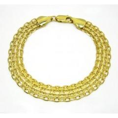 10k Yellow Gold Solid Bismark Bracelet 8.25 Inch 10.3mm