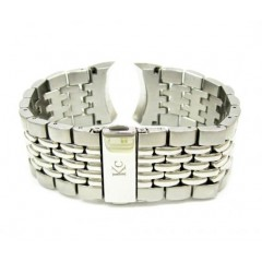 Mens Multi Link White Stainless Steel Kc Band