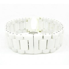 Womens Multi Link White C...