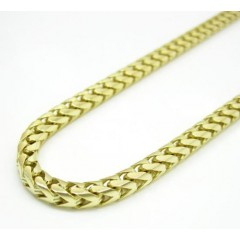 10k Yellow Gold Solid Franco Link Chain 20-26 Inch 2.2mm