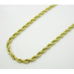 10k Yellow Gold Solid Rope Link Chain 16-24 Inch 1.8mm