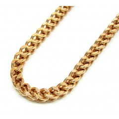 10k Rose Gold Solid Franco Link Chain 38-40 Inch 4.2mm