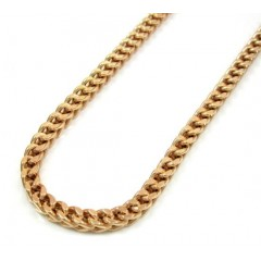 10k Rose Gold Solid Franco Link Chain 38-40 Inch 3.5mm