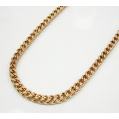 10k Rose Gold Solid Franco Link Chain 36-40 Inch 2.8mm