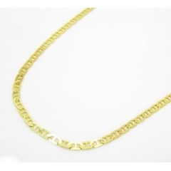 10k Yellow Gold Solid Tight Mariner Link Chain 16-24 Inch 1.5mm