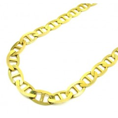 10k Yellow Gold Solid Thick Mariner Link Chain 20-36 Inch 7.5mm