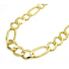 10k Yellow Gold Solid Figaro Link Chain 30 Inch 8mm