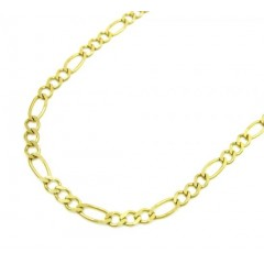 10k Yellow Gold Solid Figaro Link Chain 26 Inch 2.2mm