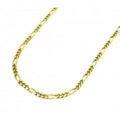 10k Yellow Gold Solid Figaro Link Chain 16-24 Inch 1.5mm