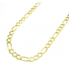 10k Yellow Gold Solid Figaro Link Chain 16-24 Inch 3.7mm