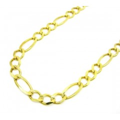 10k Yellow Gold Solid Figaro Link Chain 20-36 Inch 5.5mm