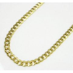 10k Yellow Gold Diamond Cut Cuban Link Chain 24-26 Inch 2.6mm