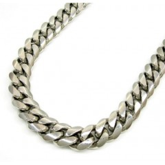 925 Sterling Silver Miami Link Chain 34 Inch 11.3mm