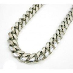925 Sterling Silver Miami Link Chain 36 Inch 9.7mm