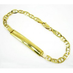 10k Yellow Gold Mariner Id Bracelet 8 Inch 5.2mm