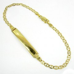 10k Yellow Gold Mariner Id Bracelet 8 Inch 3.2mm