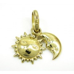 10k Yellow Gold Sun & Moon Pendant