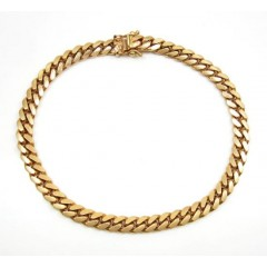 14k Rose Gold Solid Miami...
