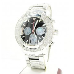 Mens Aqua Master White Stainless Steel Diamond Watch 0.20ct