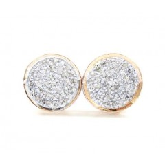 14k Multi Color Gold Diamond Snow Cap Earrings 0.16ct