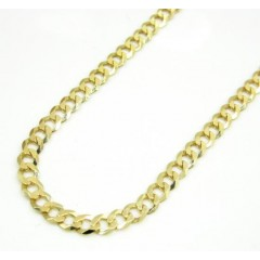10k Yellow Gold Cuban Chain 16-30 Inch 3mm
