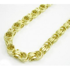 10k Yellow Gold Turkish Rope Chain 40 Inch 4.5mm