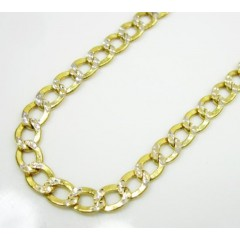 10k Yellow Gold Diamond Cut Cuban Chain 18-24 Inch 3.6mm