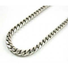 14k Solid White Gold Franco Chain 36 Inch 4.5mm