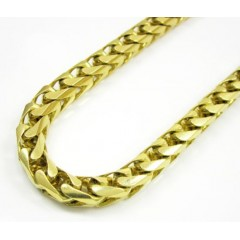 14k Solid Yellow Gold Franco Chain 36 Inch 6mm