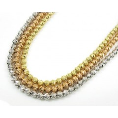 14k Solid Gold Diamond Cut Ball Chain 20 Inch 2.5mm