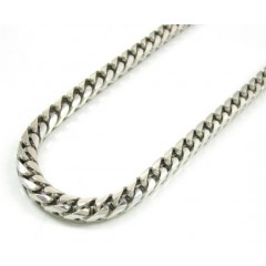 14k Solid White Gold Franco Chain 30-36 Inch 3mm