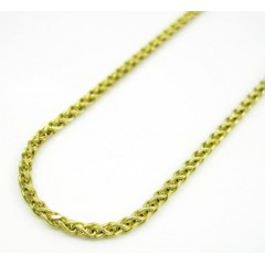 14k Solid Yellow Gold Franco Chain 18-20 Inch 1.4mm