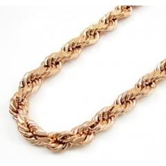 10K Rose Gold Rope Chain 24-30 Inch 4.5mm