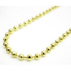 10k Yellow Gold Hexagon Cut Ball Chain 18-24 Inch 1.5mm