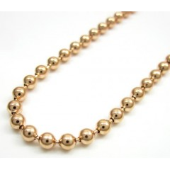 10k Rose Gold Smooth Cut Ball Chain 18-26 Inch 3mm