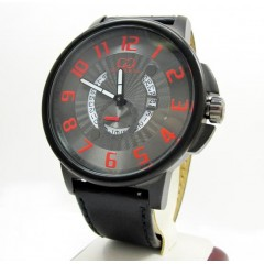 Curtis & Co Black Stainless Steel Big Time Cool Black/red Watch