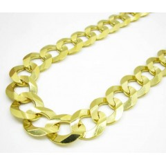 10k Yellow Gold Thick Cuban Chain 26-30 Inch 14.30mm