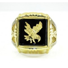 Mens 10k Yellow Gold Eagl...