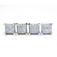 10k Gold Diamond Cube Earrings 0.20ct
